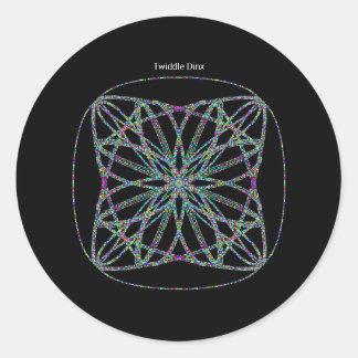 "Twiddle #111 - 1.5"" Round Stickers - 20 per sheet"
