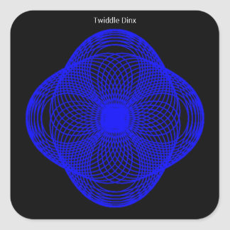 Twiddle #11 - Square Stickers - 20 per sheet