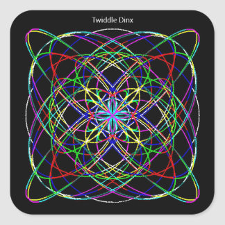 """Twiddle #121 - 1.5"""" Square Stickers - 20 per sheet"""