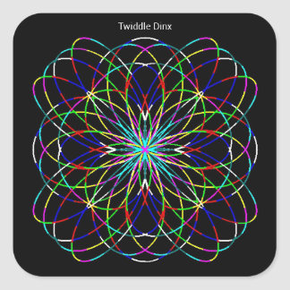 """Twiddle #129 - 1.5"""" Square Stickers - 20 per sheet"""