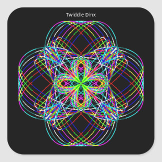 """Twiddle #139 - 1.5"""" Square Stickers - 20 per sheet"""