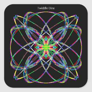Twiddle #15 - Square Stickers - 20 per sheet