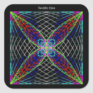 """Twiddle #21 - 3"""" Square Stickers - 6 per sheet"""