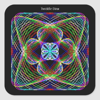 """Twiddle #23 - 3"""" Square Stickers - 6 per sheet"""