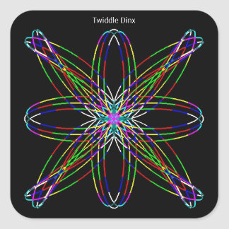 Twiddle #2 - Square Stickers - 20 per sheet