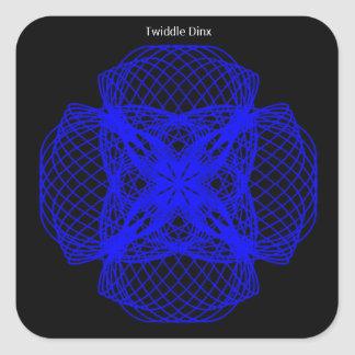 """Twiddle #35 - 1.5"""" Square Stickers - 20 per sheet"""