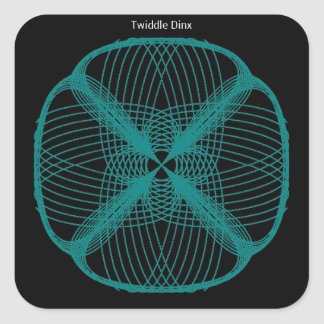 """Twiddle #36 - 3"""" Square Stickers - 6 per sheet"""