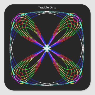 """Twiddle #37 - 3"""" Square Stickers - 6 per sheet"""
