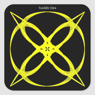 """Twiddle #38 - 3"""" Square Stickers - 6 per sheet"""