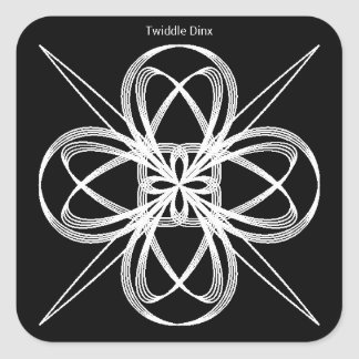 """Twiddle #39 - 3"""" Square Stickers - 6 per sheet"""