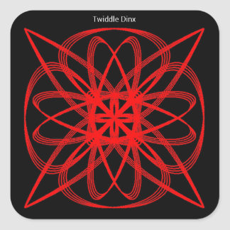 """Twiddle #40 - 3"""" Square Stickers - 6 per sheet"""