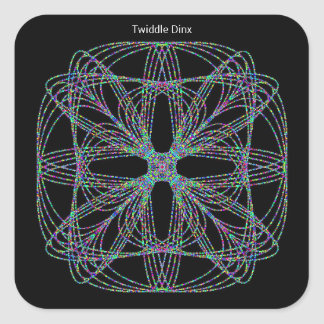 """Twiddle #55 - 1.5"""" Square Stickers - 20 per sheet"""