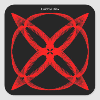"""Twiddle #57 - 1.5"""" Square Stickers - 20 per sheet"""