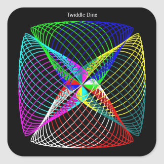 """Twiddle #59 - 1.5"""" Square Stickers - 20 per sheet"""