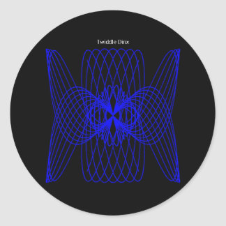"Twiddle #7 - 1.5"" Round Stickers - 20 per sheet"