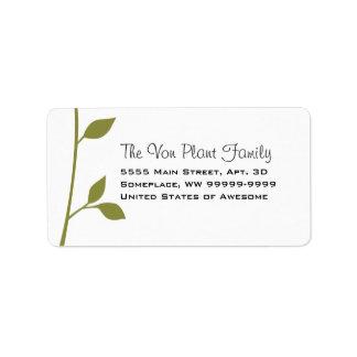 Twig and Leaf Address Label