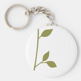 Twig and Leaf Keychain