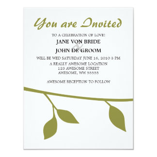 Twig and Leaf Personalized Invite