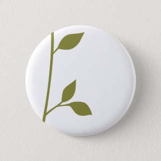 Twig and Leaf Pinback Button