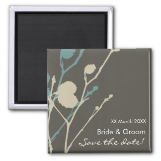 Twig-  CHARCOAL-BLUE Save the date! Magnet