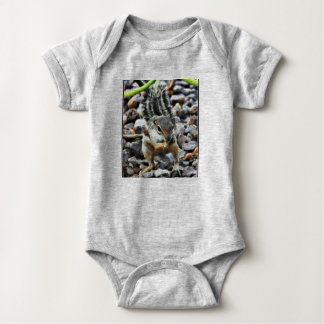 Twig Eating Squirrel Baby One Piece Baby Bodysuit