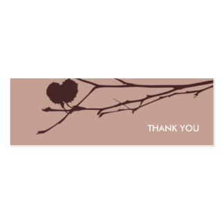 Twig Gift tag THANK YOU : CHOC - MOCHA Double-Sided Mini Business Cards (Pack Of 20)