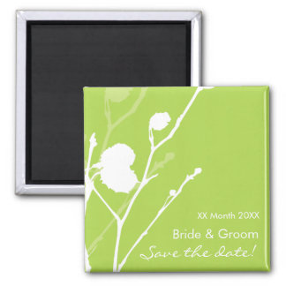 Twig-  GREEN Save the date Magnet