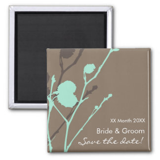 Twig- MOCHA - BLUE Save the date! Magnet