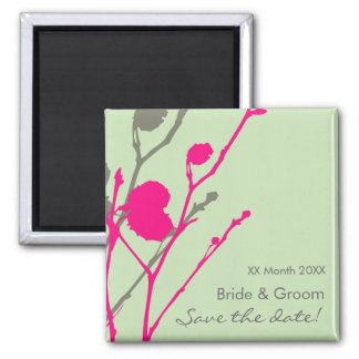 Twig-  PINK - MINT Save the date magnet