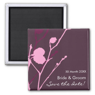 Twig-  PURPLE Save the date Magnet