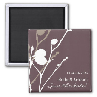 Twig-  PURPLE-SMOKE Save the date Magnet