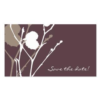 Twig PURPLE - SMOKE Save the date! mini Business Card