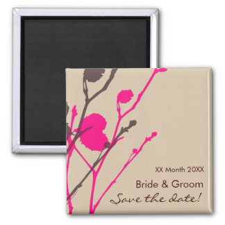Twig- SANDSTONE & PINK Save the date Magnet