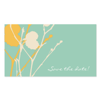 Twig TROPICAL Save the date! MINI Double-Sided Standard Business Cards (Pack Of 100)
