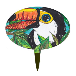 Twiggy the Toucan Cake Topper
