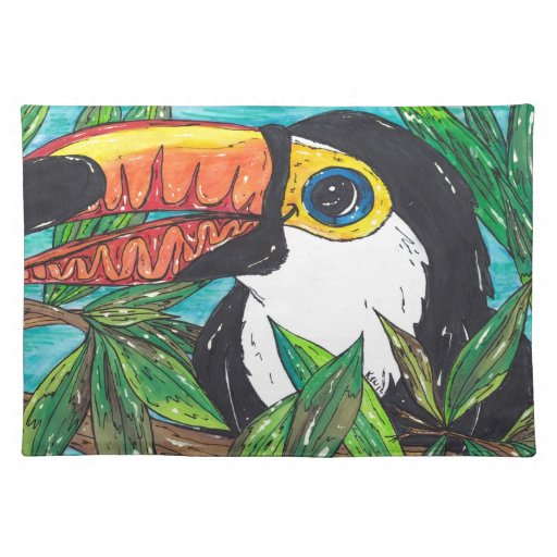Twiggy the Toucan Place Mats