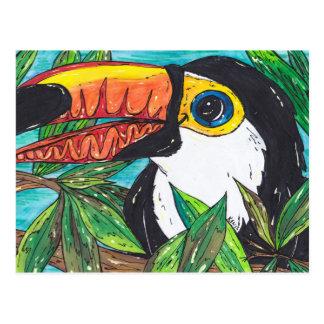 Twiggy the Toucan Postcard