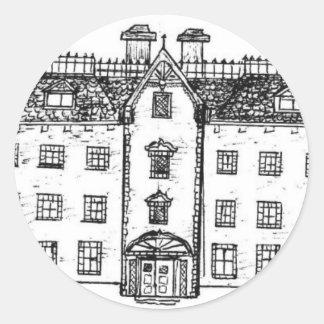 Twighlight Manor the manor itself Classic Round Sticker