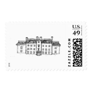 Twighlight Manor the manor itself Stamp