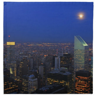 Twilght: Moonrise over the East River, NYC Napkin