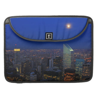 Twilght: Moonrise over the East River, NYC Sleeve For MacBook Pro