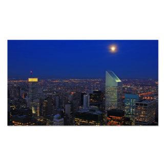 Twilght: Salida de la luna sobre el East River, Tarjetas De Visita