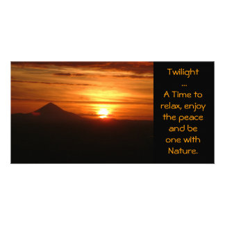 Twilight ... A Time to relax card