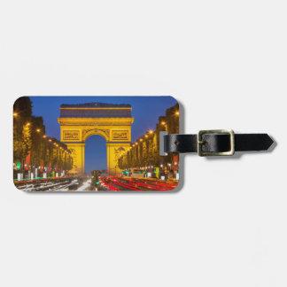 Twilight Along Champs Elysee Bag Tag