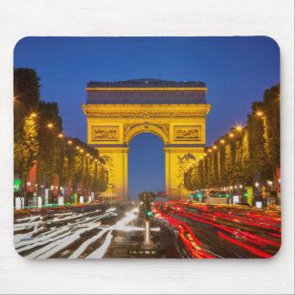 Twilight Along Champs Elysee Mouse Pad