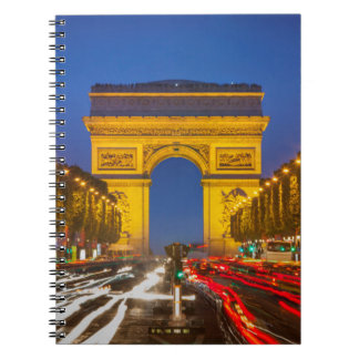 Twilight Along Champs Elysee Notebook