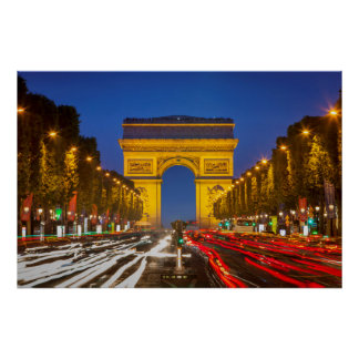 Twilight Along Champs Elysee Poster