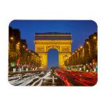 Twilight Along Champs Elysee Rectangular Photo Magnet