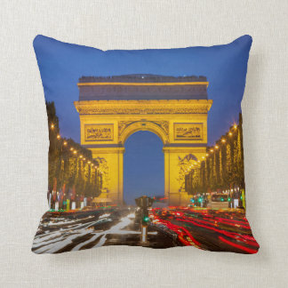 Twilight Along Champs Elysee Throw Pillow