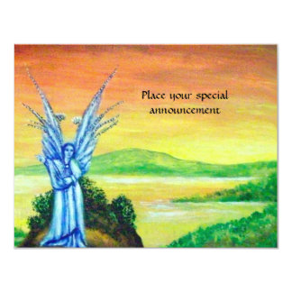 TWILIGHT ANGEL pink purple white brown blue Card